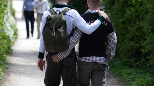 Ein homosexuelles Paar (Symbolbild)