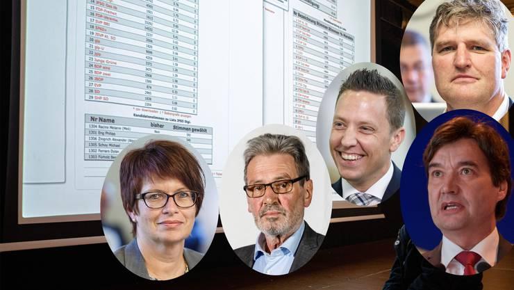 Tops und Flops: Karin Büttler, Roberto Zanetti, Christian Imark, François Scheidegger und Josef Fluri.