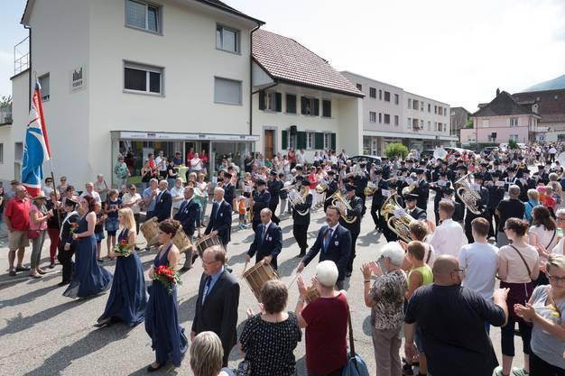 Parademusik der MG Konkordia Balsthal unter der Leitung von Hans Burkhalter