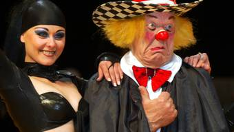 """Der legendäre russische Clown Oleg Popow bei Proben in München: Der """"Volkskünstler der Sowjetunion"""" verstarb 86-jährig. (Archivbild)"""