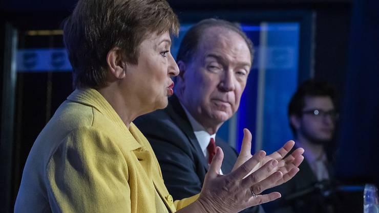Die Chefin des Internationalen Währungsfonds (IWF), Kristalina Georgieva, und Weltbankpräsident  David Malpass befürchten, dass die Weltwirtschaft in eine starke globale Rezession fällt. (Archivbild)