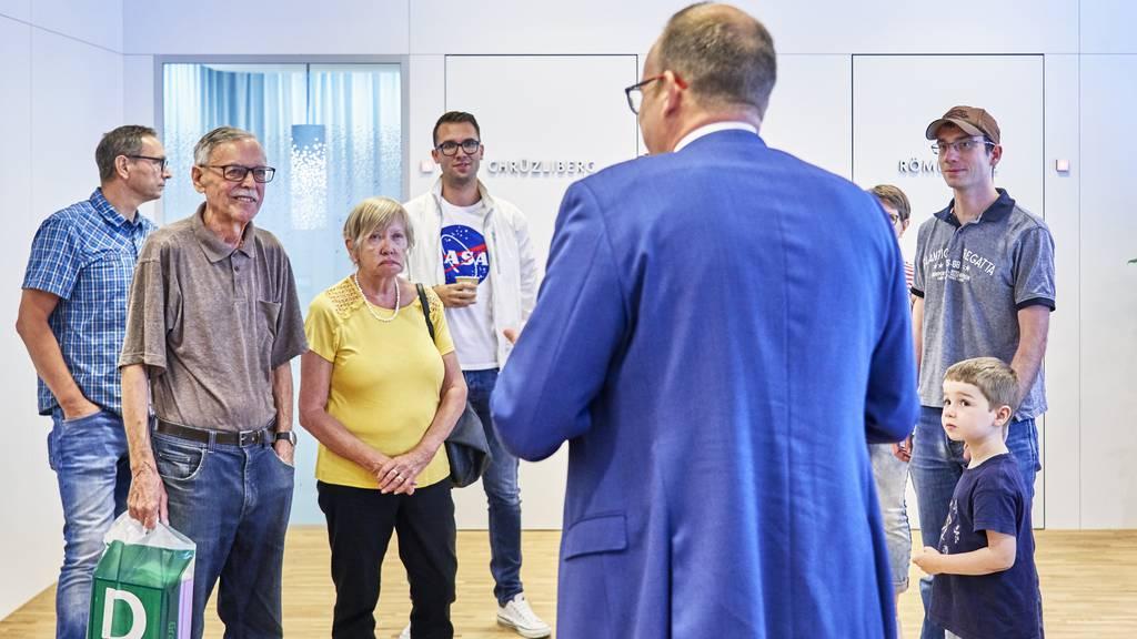 Als noch alles gut war bei der NAB: Die Eröffnung der Geschäftstelle in Baden 2019.