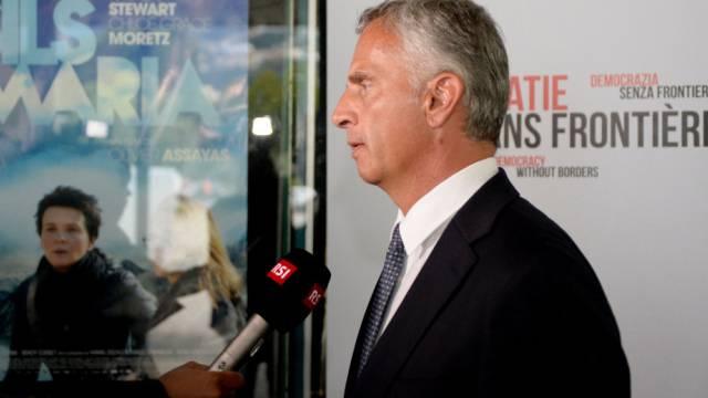 Bundespräsident Burkhalter bei der Lancierung der Initiative