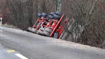 Lastwagenunfall Leuggern