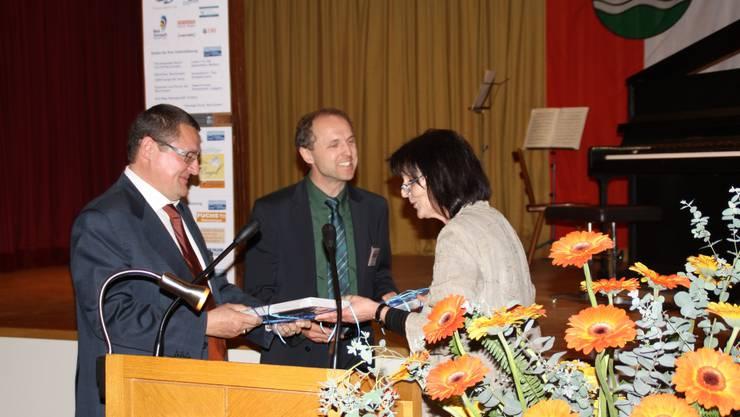 Theo Vögtli, Tilman Bollacher und Heidi Wanner (v. l.).  ewa