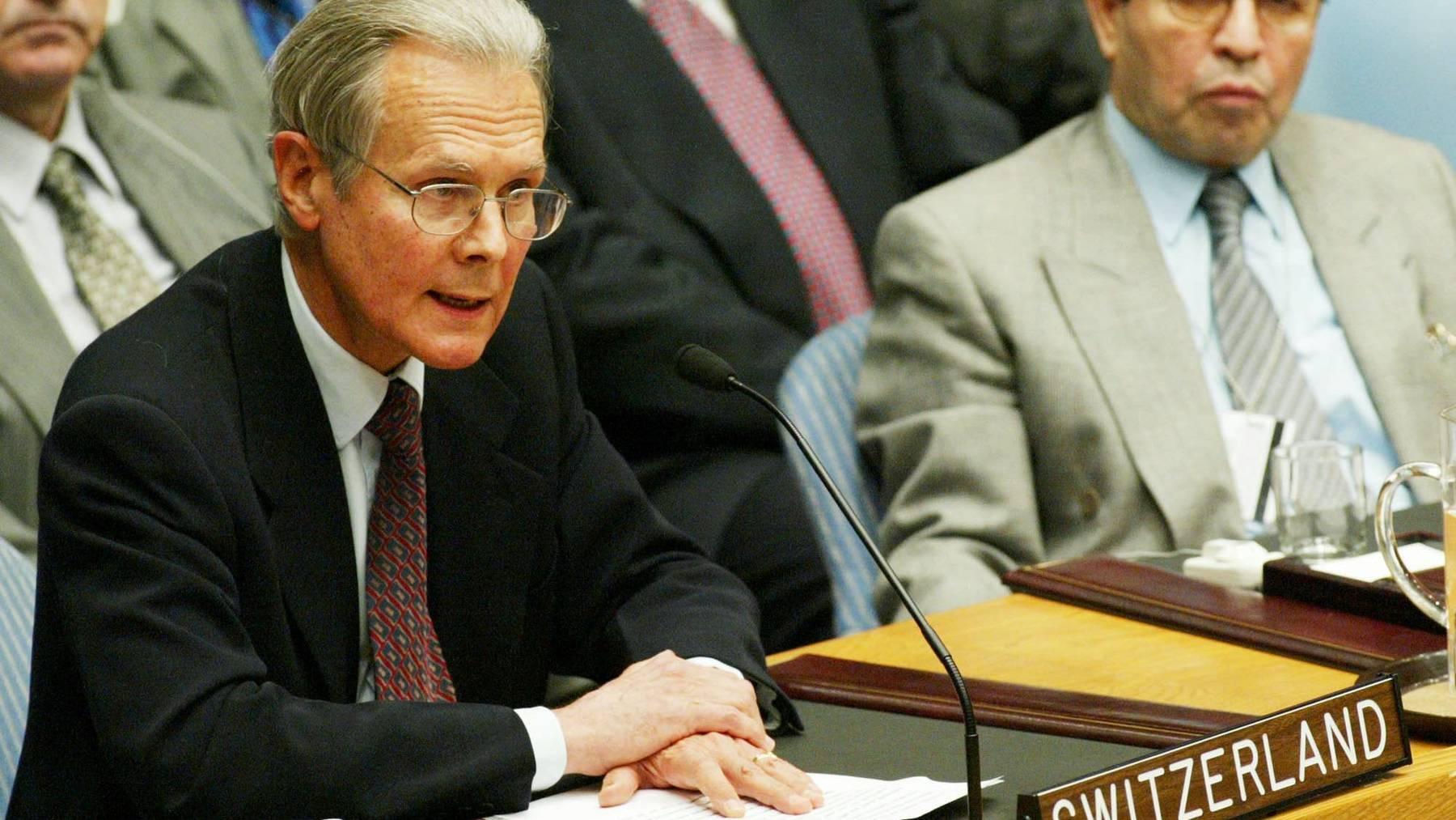 Jenö Staehelin war der erste Schweizer UNO-Botschafter.