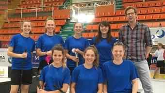 Das Unihockeyteam der Sekundarschule Gelterkinden kam auf den 2. Rang.