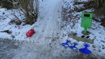 Schlittelunfall in Zeiningen
