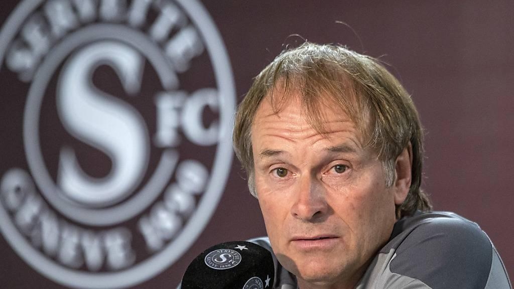 Muss zumindest am Samstag auf seinen jungen Stürmer Alban Ajdini verzichten: Servette-Coach Alain Geiger