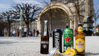 Chopfab statt Heineken oder Eichhof: Das Blue Balls Festival setzt auf Bier aus Winterthur.