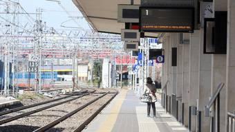 Ein verwaister Bahnhof in Brescia.