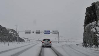 Leise rieselte der Schnee am Freitag der Schnee beim Gotthardpass