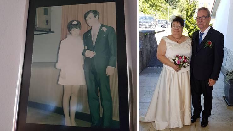 Vor 50 Jahren heirateten Monika und Gerd im Alter von 17 bzw. 19 Jahren auf dem Zivilstandsamt. Jetzt kam die kirchliche Trauung fürs Ehepaar Brand.