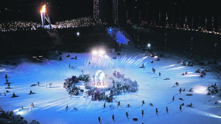 Eröffnungs-Zeremonie der Winterspiele von Lillehammer 1994 Werden die damaligen Spiele in Norwegen zum Vorbild für «Sion 2026»