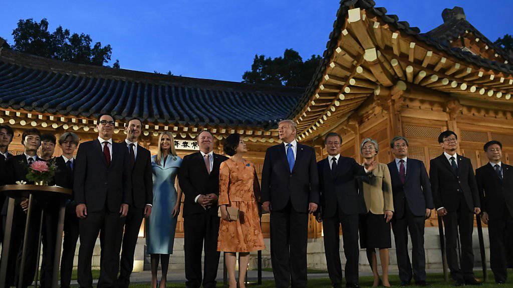 Gruppenbild am G20-Gipfel am Samstag in Osaka.