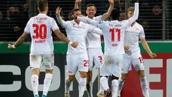 Union Berlin bejubelt das 3:1 in Freiburg
