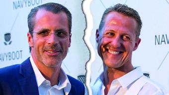 Philippe Gaydoul und Michael Schumacher 2011 an einer Werbeveranstaltung für Navyboot.