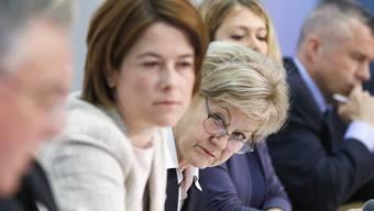 Vereint im Kampf gegen das Grundeinkommen: Petra Gössi und Susanne Leutenegger-Oberholzer.