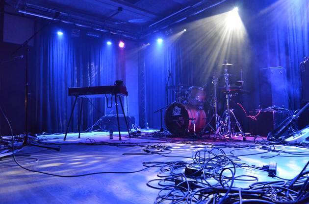 Die Bühne des neuen Werkks nach den fünf Konzerten