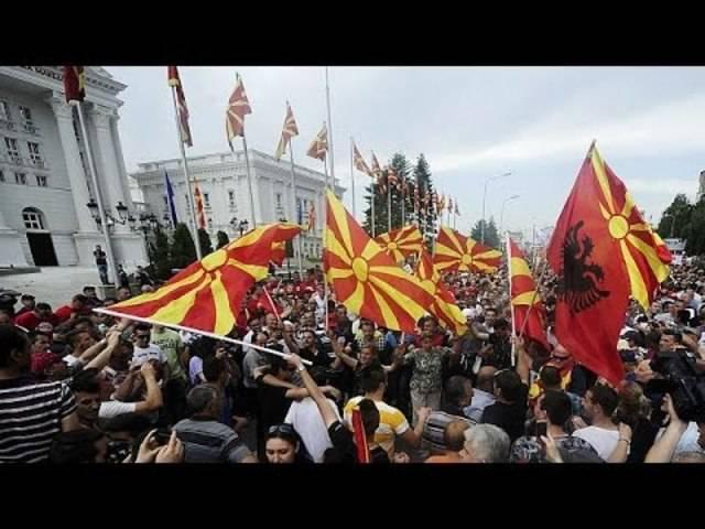Proteste gegen mazedonischen Ministerpräsidenten Gruevski