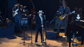 Ganz bei sich selbst: Bob Dylan auf der Bühne bei «Stimmen».