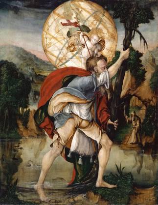 m Heiligenbilder wie das von Christophorus eines unbekannten Meisters wird es später im Jahr gehen...