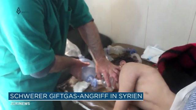 Syrien: Bis zu 100 Tote bei Chemiewaffen-Angriff