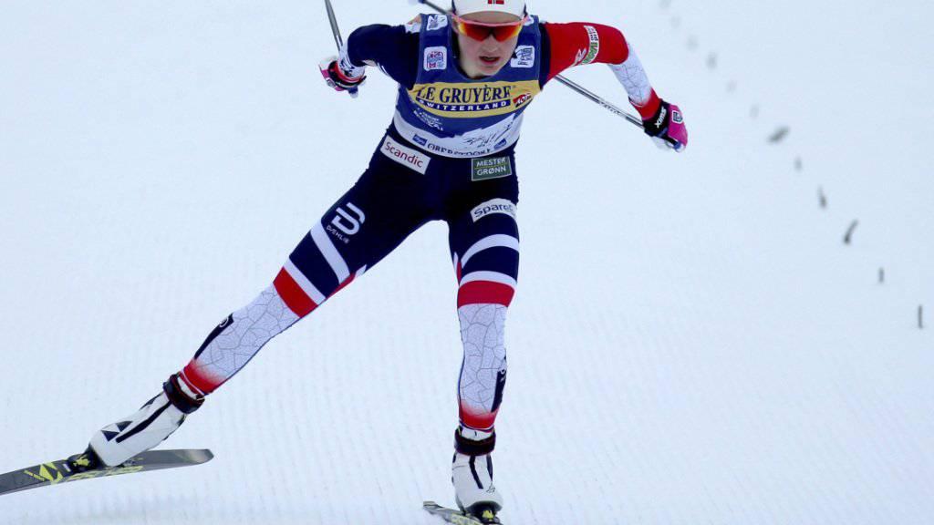 Ingvild Flugstad Östberg positioniert sich günstig im Hinblick auf einen möglichen Triumph an der Tour de Ski