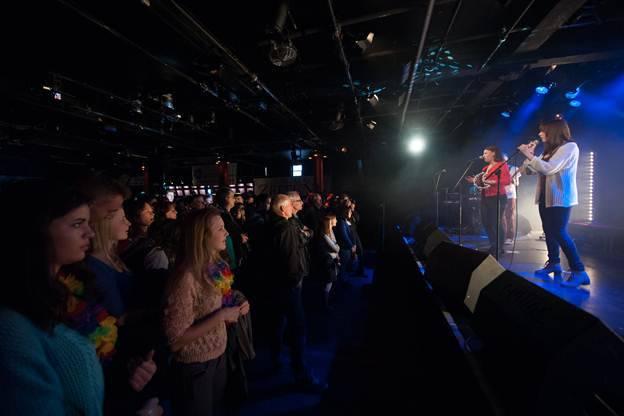 Die Schülerband SPAM eröffnet das Finale des bandXaargau 2013 Nachwuchsband-Festivals im KiFF Aarau