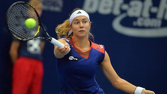 Stefanie Vögele steht beim WTA-Turnier in Luxemburg im Viertelfinal