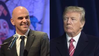 Am Donnerstag sollten sich die beiden treffen: Alain Berset und Donald Trump.