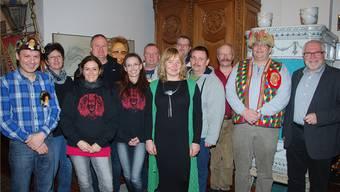 Fasnächtler und Behördenmitglieder stellten gemeinsam das Laufenburger Fasnachtsprogramm vor. Lid