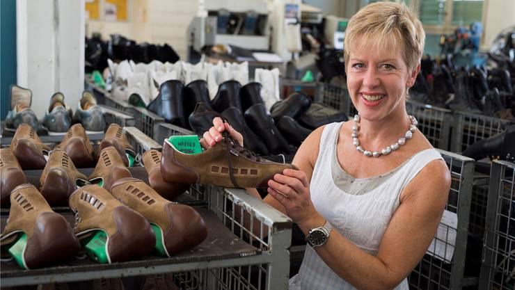 Barbara Artmann hat 2004 die Künzli Swiss Schuh AG aufgekauft.