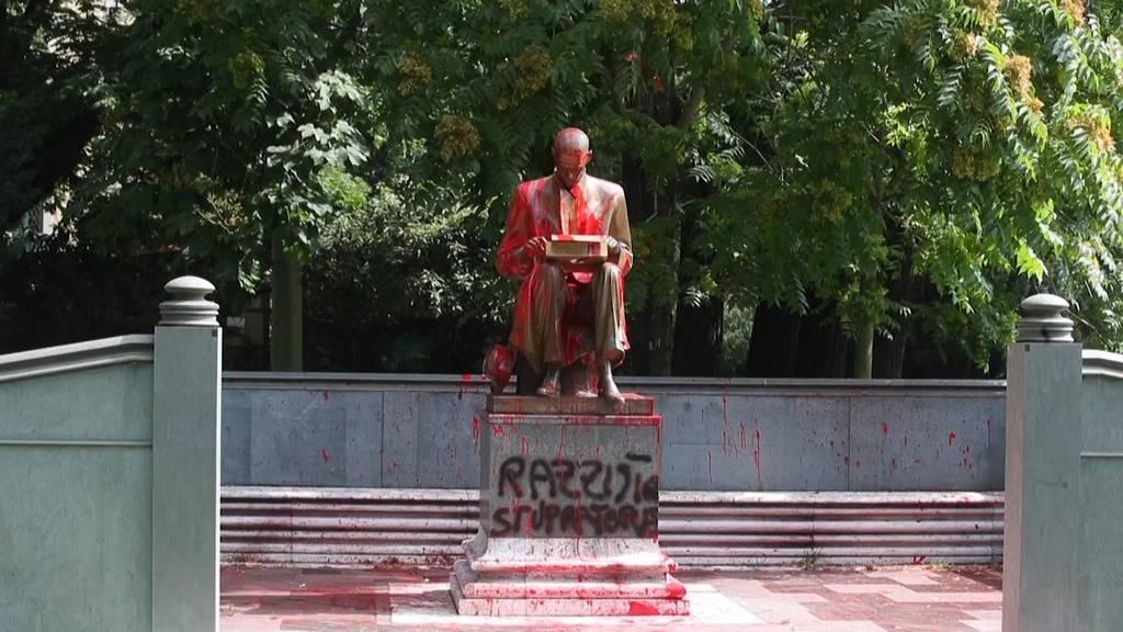 Anti-Rassismus-Proteste: Denkmal in Italien beschmiert