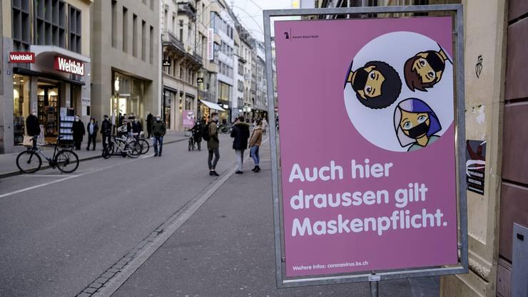 In der Basler Innenstadt gilt Maskenpflicht.