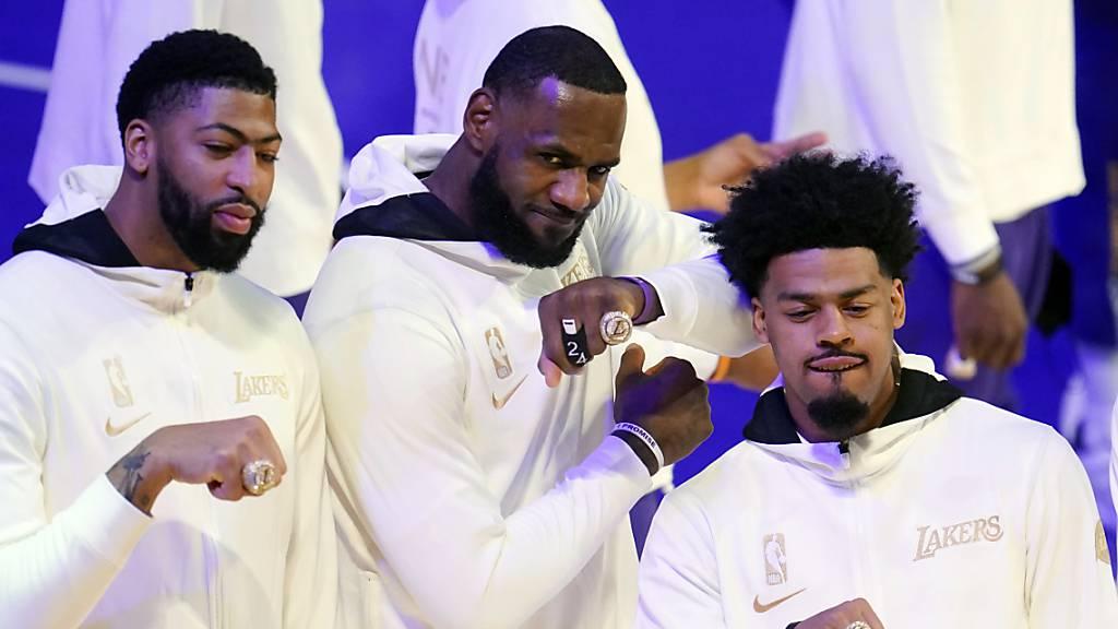 Meisterringe für die Los Angeles Lakers - und danach eine Derby-Niederlage