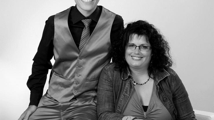 Sven Flöer mit seiner Mutter, Brigitte Flöer