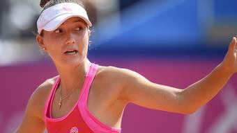 Leonie Küng im Sommer 2018 beim WTA-Turnier in Gstaad