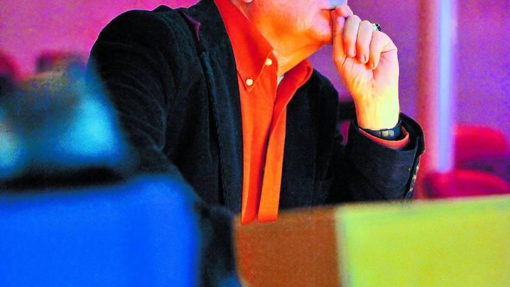 Ungewisse Zukunft: Theaterdirektor Beat Wyrsch im Zuschauerraum des Theaters. Ob, wann und wie dieser renoviert wird, bleibt offen. (Bild: Oliver Menge)