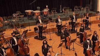 Streaming-Konzert von Argovia Philharmonic im Gemeindesaal Buchs.