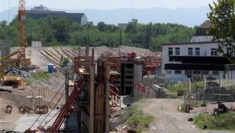 In Weil-Haltingen geht es vorwärts, weiter nördlich hingegen harzt die Grossbaustelle.  DB