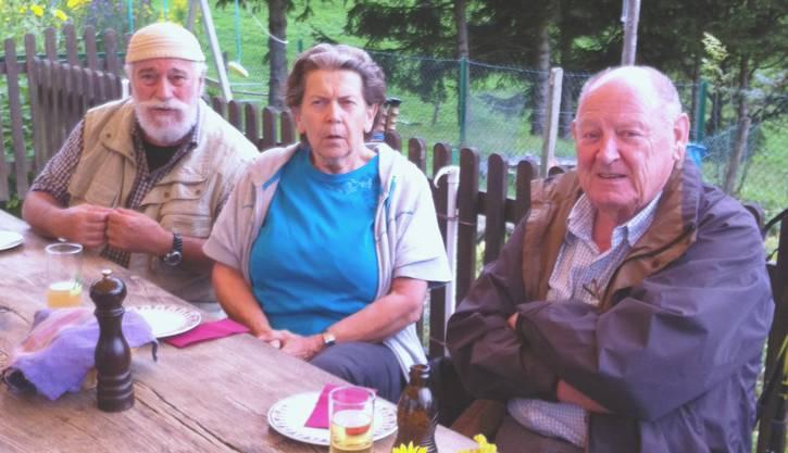 Von links Werner Grüninger, Vreni und René Walther.