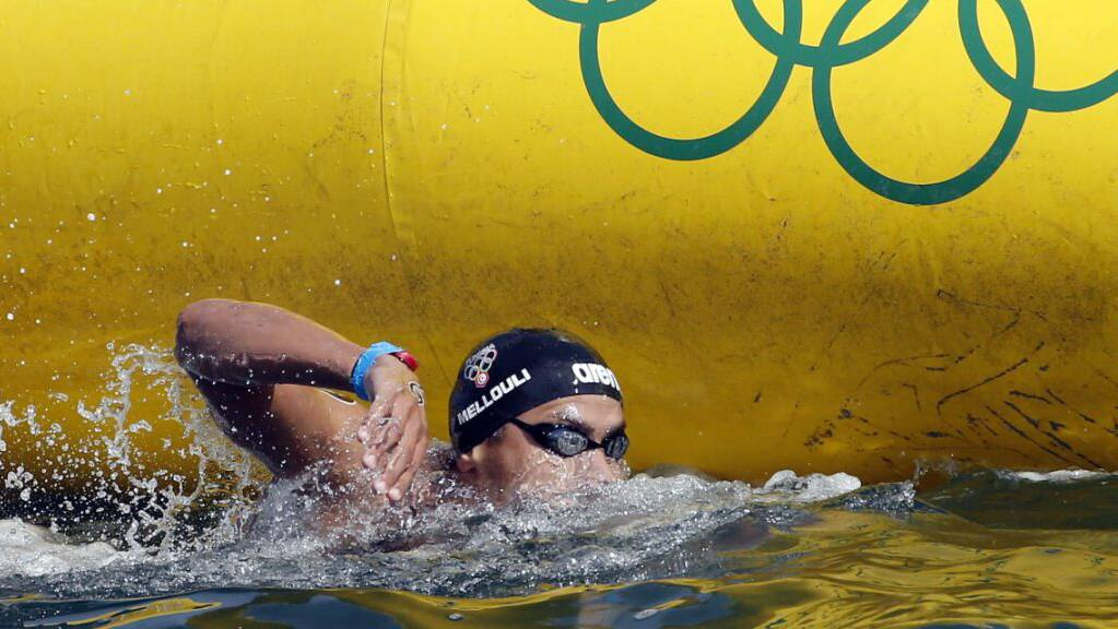Der 37-jährige Tunesier Oussama Mellouli, hier unterwegs im 10-km-Wettkampf in Rio de Janeiro, startet in Tokio zu seinen sechsten Olympischen Spielen.