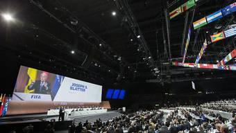 Im Zürcher Hallenstadion wird der 65. Kongress der FIFA ausgetragen