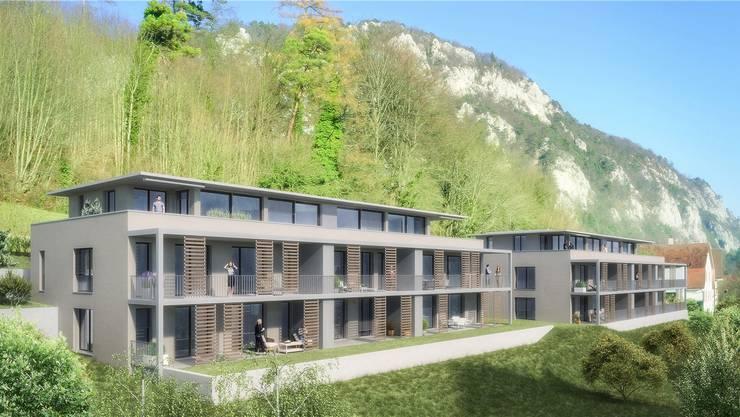 An Südhanglage ist an der Höngerstrasse neuer Wohnraum geplant. Visualisierung ZVG