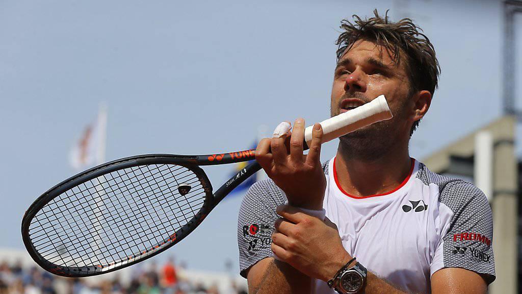 Braucht nach seinen Efforts in Roland Garros eine Pause: Stan Wawrinka steigt eine Woche später in die Rasensaison ein