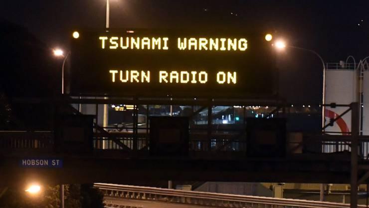 Nach dem Erdbeben im Pazifik am Sonntag gab Neuseeland eine Tsunami-Warnung heraus. (Archivbild)