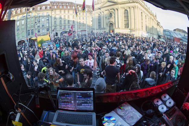 Kundgebung «Tanz dich Frei» in Bern