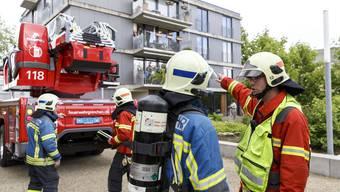 Evakuierungsübung mit Behinderten im Rodaniaheim Grenchen