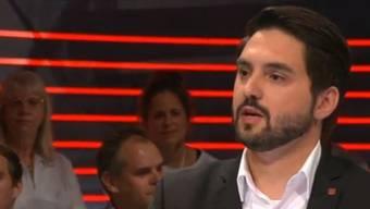 """Cédric Wermuth kämpfte in der """"Arena"""" für das Anliegen der Volksinitianten."""